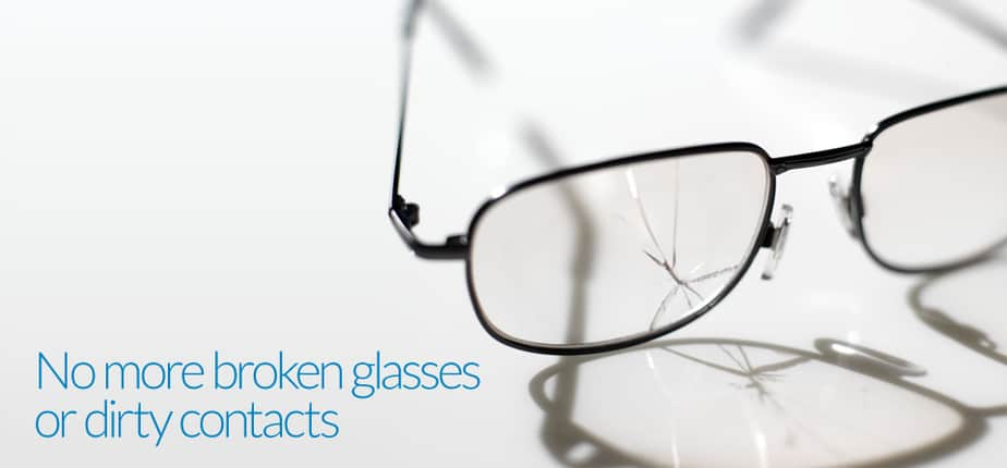 Broken Glasses from eye doctor DC