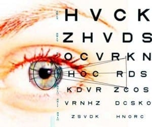 eye doctor Arlington VA eye chart